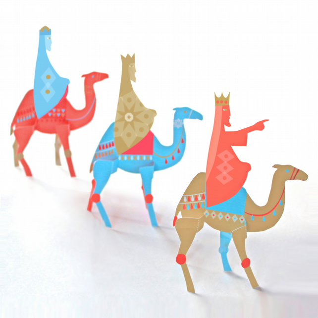 Three Kings Paper Craft Set
