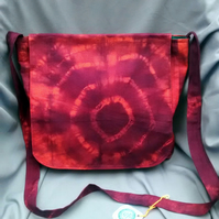 Orange & Red Tie Dye Messenger bag
