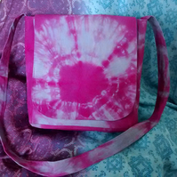 Pink & Blue Tie Dye Messenger Bag