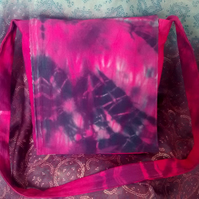 Pink & Purple Tie Dye Messenger Bag