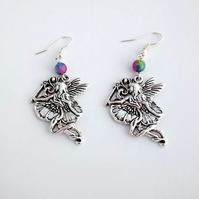 Flower Fairy Charm Earrings