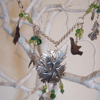 Green Man Necklace MADE TO ORDER