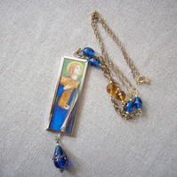 Dante Gabriel Rossetti 'The Salutation of Beatrice' Art Necklace
