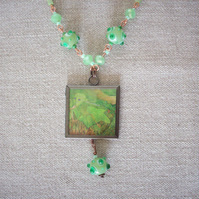 J E Millais 'Ferdinand Lured by Ariel' Art Necklace
