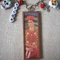 Frida Kahlo 'Tree of Hope Keep Firm' Art Necklace