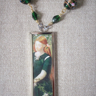 Dante Gabriel Rossetti 'Leah and Rachel' Art  Necklace REVERSIBLE!