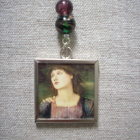 Edward Burne Jones 'The Mill' Art Necklace REVERSIBLE
