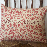 LOVE IS ENOUGH Morris Cushion Red