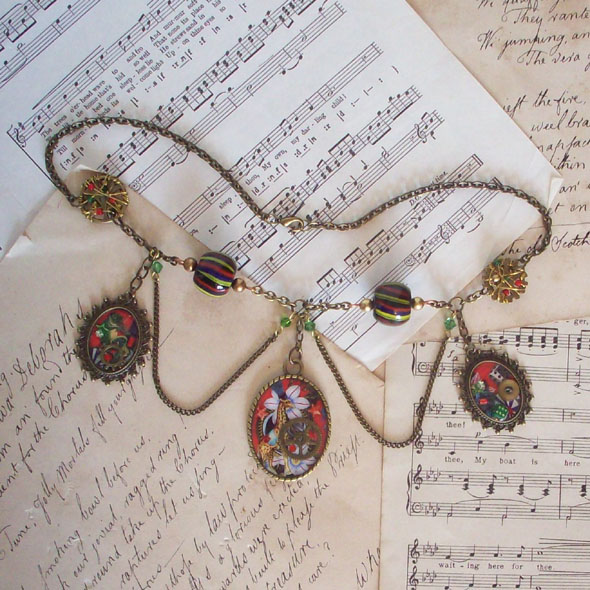 Steampunk Carnival Necklace