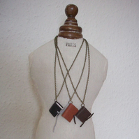 Leatherbound Mini-book Necklace