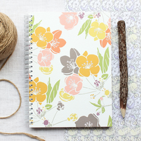 Spring Blossom - A5 Spiral Bound Notebook, Jotter, Journal