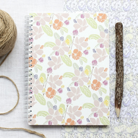 Apple Blossom - A5 Spiral Bound Notebook, Jotter, Journal