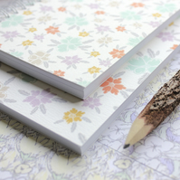 Ditsy Wildflowers - A6 Spiral Bound Pocket Notebook, Jotter, Mini Journal