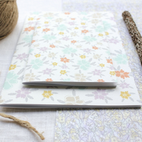 Ditsy Wildflowers - A6 Stapled Pocket Notebook