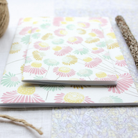 Dainty Daisies - A6 Stapled Pocket Notebook