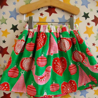Reversible Christmas decoration skirt