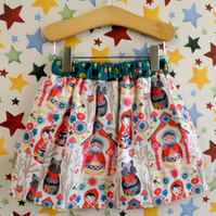 Red Riding Hood Reversible skirt