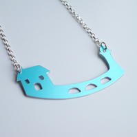 Sale - St Ives harbour pier necklace with lighthouse