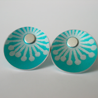 Turquoise starburst stud earrings
