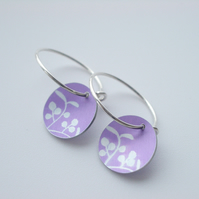 Berry hoop earrings in purple