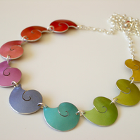 Rainbow shells necklace