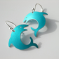 Fish earrings in turquoise