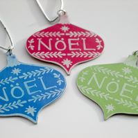 Christmas handmade baubles set of 3