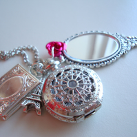 Beauty and The Beast Pocket Watch Necklace