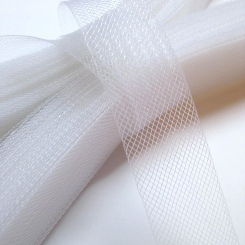 """Crinoline Horsehair Braid for Millinery 3/"""" Wide White Sold by the Yard"""