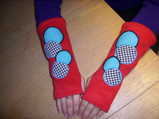 Lady's Fleece Fingerless Gloves