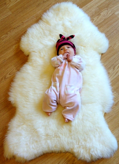 Stunning extra large eco sheepskin  rug,  free of harsh chemicals