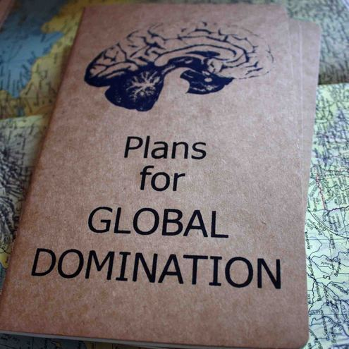 Plans for Global Domination large moleskine cahier