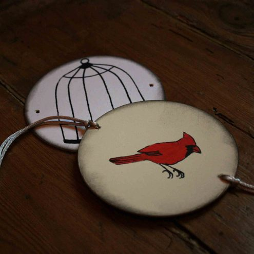 Thaumatrope. Bird and cage