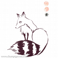 kitsune fox screenprint