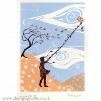 Laurens Kite. Original silkscreen print.