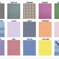 Gingham fabric 1 quarter inch check