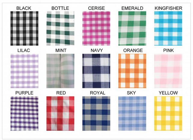 Gingham fabric 1 inch check