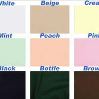 Plain Polycotton fabric 45inch, 112cm wide.