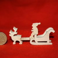 Miniature Reindeer and Sleigh