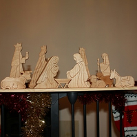 Christmas Wooden Nativity Set