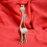 Wooden 'Snooty Cat' Ornament