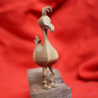 Wooden comic 'Bird in Boots' Ornament