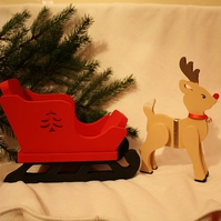 Christmas Reindeer and Sleigh