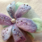 Handmade needle felted pastel shade flower brooch