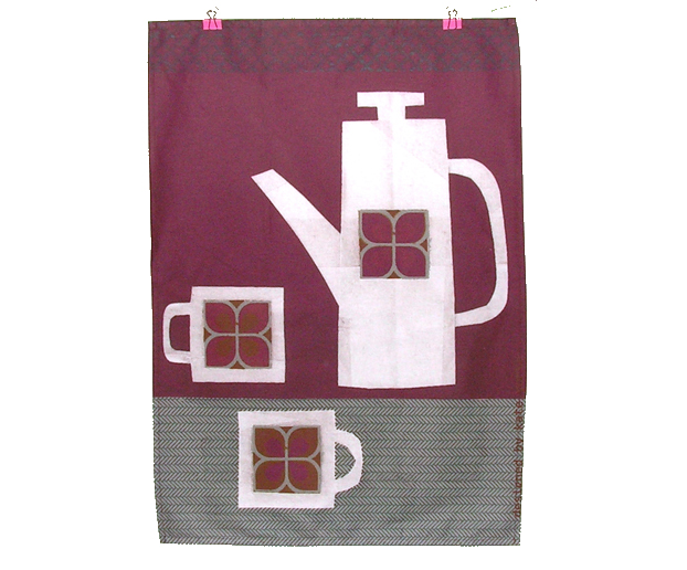 Retro Tea Set Tea Towel