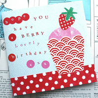 Berry Lovely birthday card