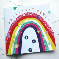 Brilliant News Rainbow Greeting Card