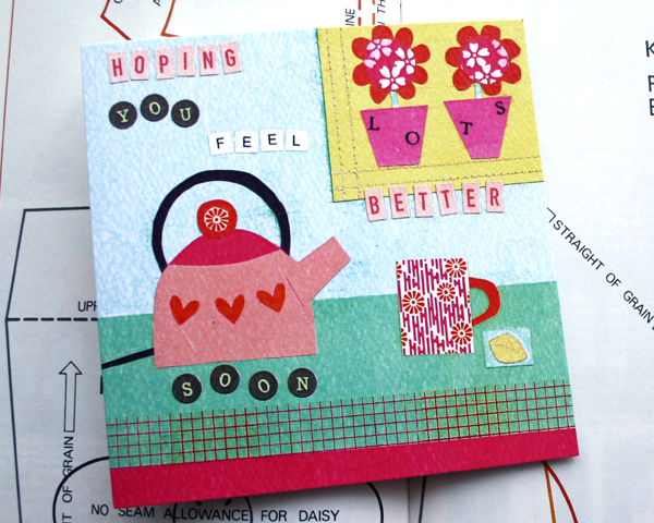Hoping you feel lots better soon... Greeting Card