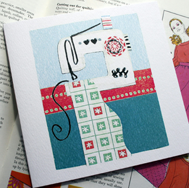 Sewing Machine Greeting Card