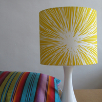 SALE ITEM - Lampshade In Bright Yellow Modern Print
